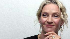 Uma Thurman Swett Smiling Face Photoshoot